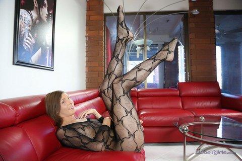 Shemale Sienna Grace Strips Down On Bob's Tgirls